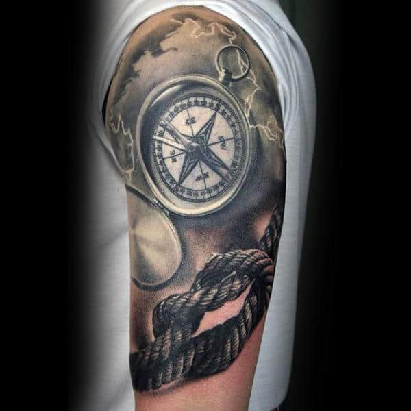 70 armband tattoo designs for men masculine ink ideas - 80 Rope Tattoo Designs For Men Corded Ink Ideas