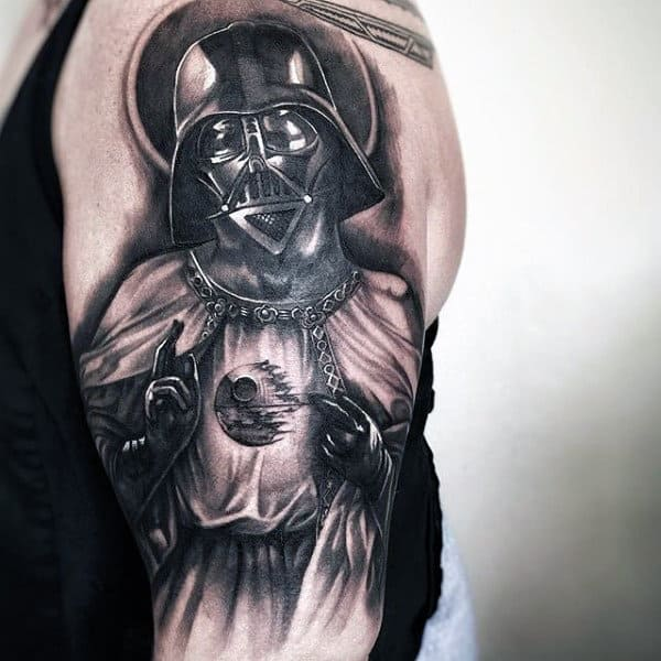 Male Arms Fantastic Darth Vader Tattoo