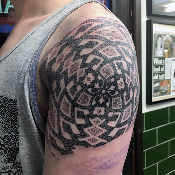 Male Arms Pattern Tattoo