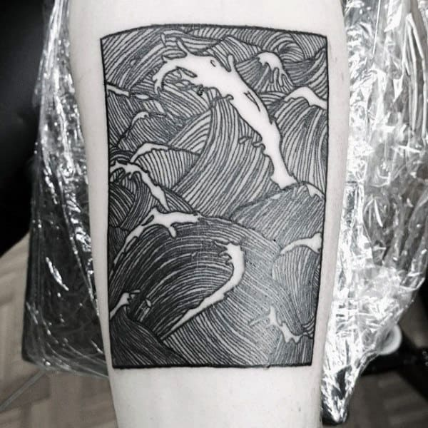 Male Arms Square Shaped Manly Tattoo
