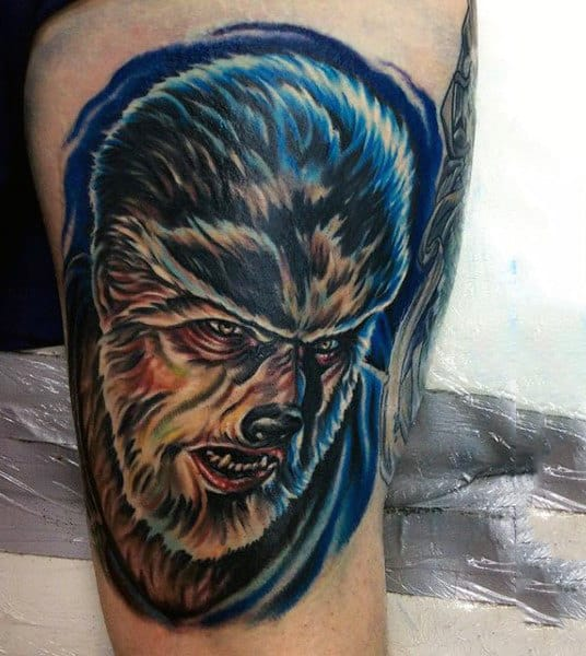 Male Arms Werewolf Haied Man Tatoo