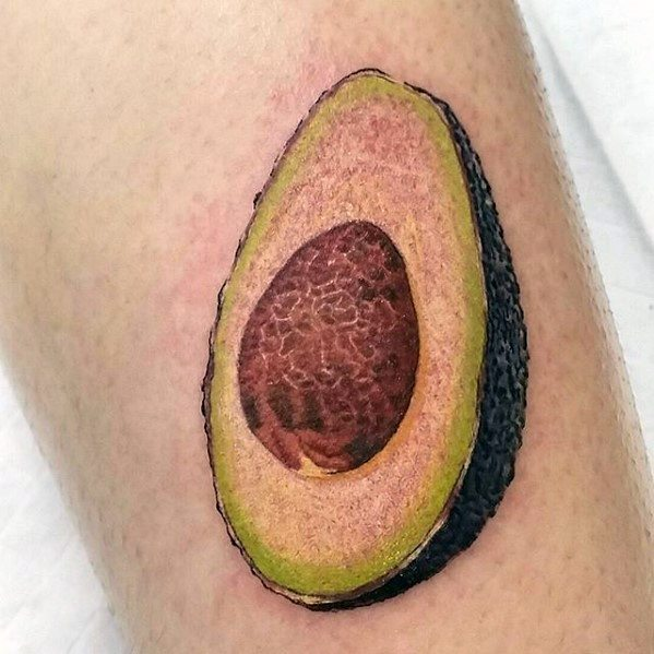 Male Avocado Tattoo Design Inspiration