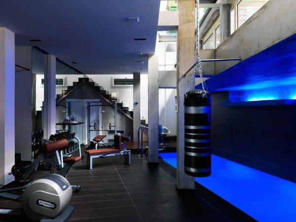 Male Bachelor Pad Home Gym Design