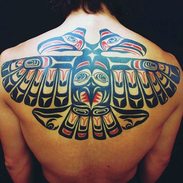 Male Back Magnificient Haida Tattoo