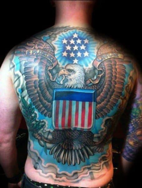 Male Badass Eagle Themed Tattoos