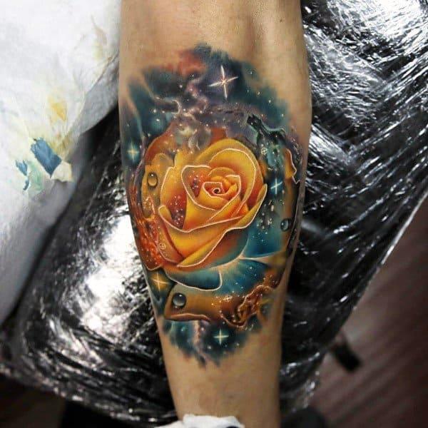 Tattoo Ideas Yellow Rose: 50 Badass Rose Tattoos For Men