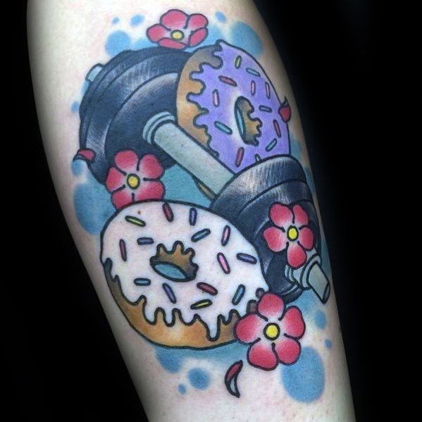 Male Barbell Tattoo Design Inspiration