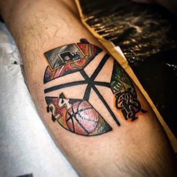 Male Basketball Tattoo Sleeve