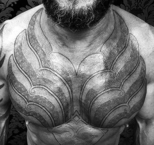 Tattoo Chest Plate: Top 90 Best Armor Tattoo Designs For Men