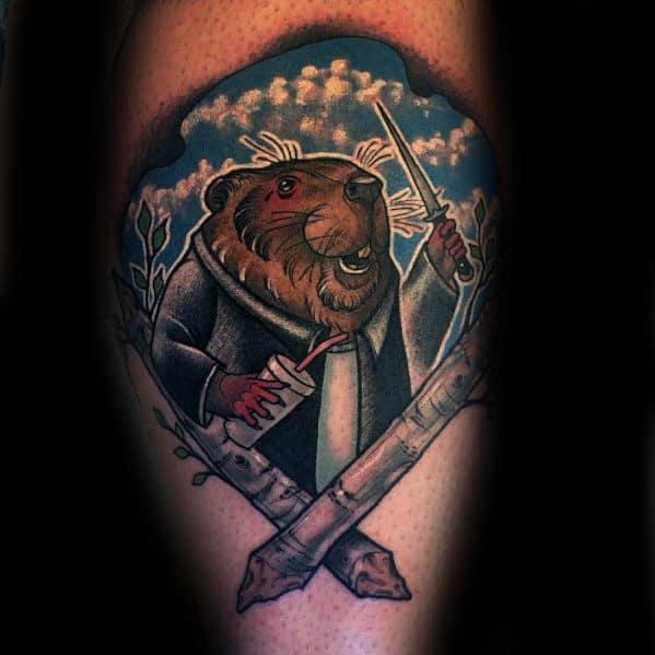 Male Beaver Tattoo Ideas