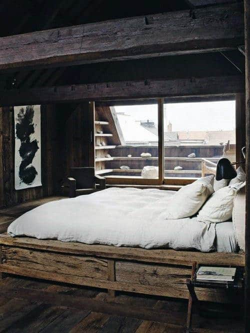 Male Bedding Ideas With Wood Bed Frame