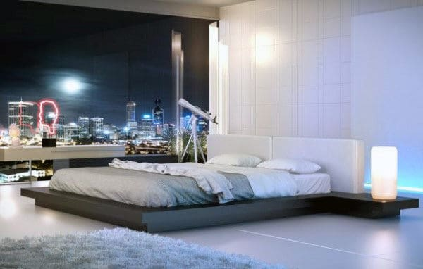 Male Bedroom Designs Low Platform Bed