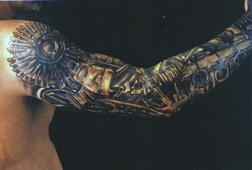Male Biomech Tattoos