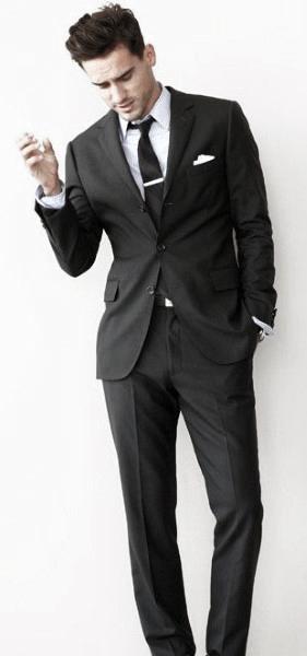 Male Black Suit Style