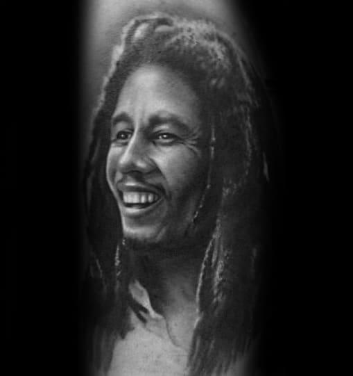 Male Bob Marley Tattoo Design Inspiration