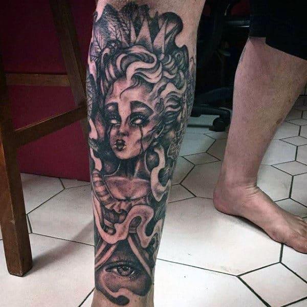 Male Calf Tattoos