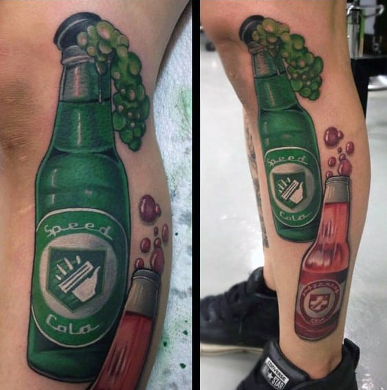 Male Call Of Duty Bottle Themed Tattoo Inspiration