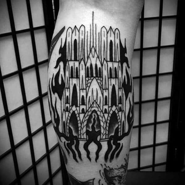 Male Cathedral Tattoo Ideas