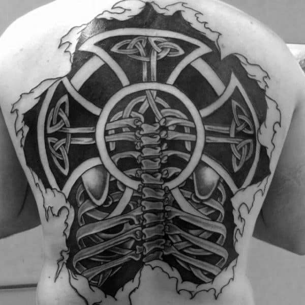 Male Celtic Cross Tattoo Designs 3d On Back