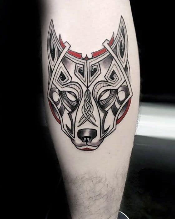 Male Celtic Wolf Tattoo Ideas