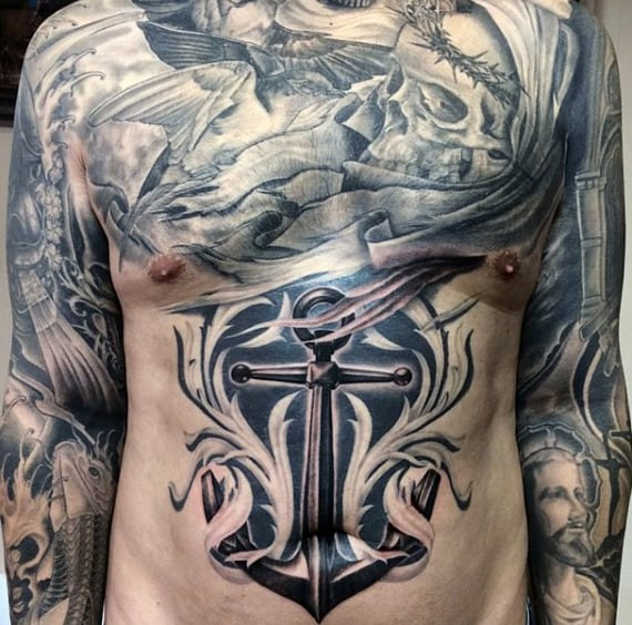 Male Chest Sleeves Best Manly Tattoo