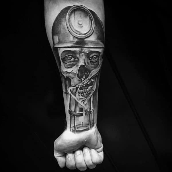 Male Coal Mining Themed Tattoos