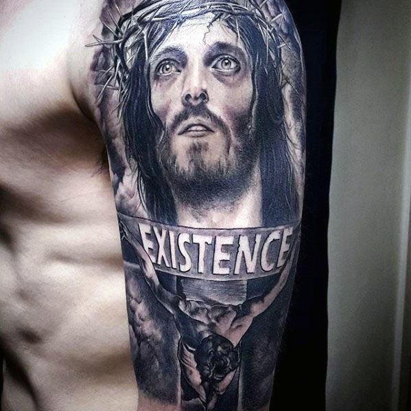 Male Cool 3d Jesus Tattoo Ideas