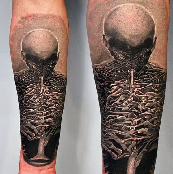 Male Cool 3d Surrealism Tattoo Ideas