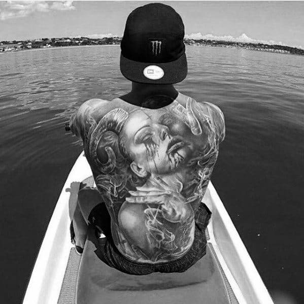 Male Cool Awesome Back Tattoo Ideas