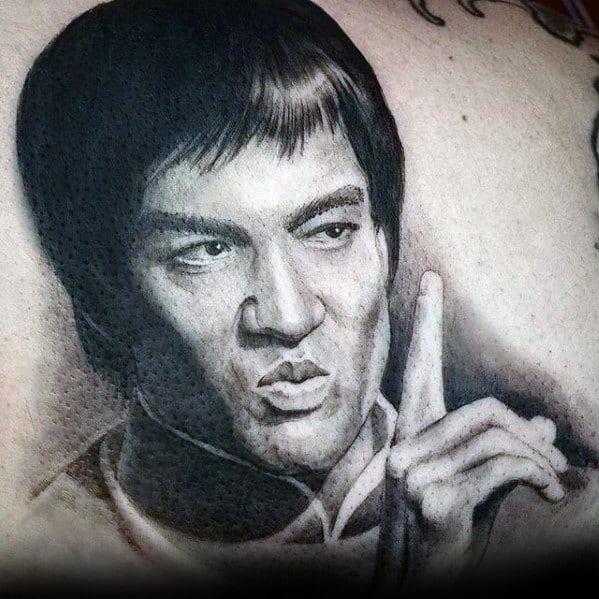Male Cool Back Bruce Lee Tattoo Ideas