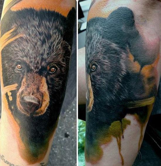 Male Cool Bear Tattoos