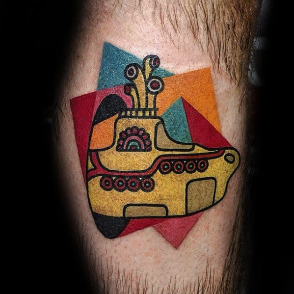 Male Cool Beatles Yellow Submarine Tattoo Ideas