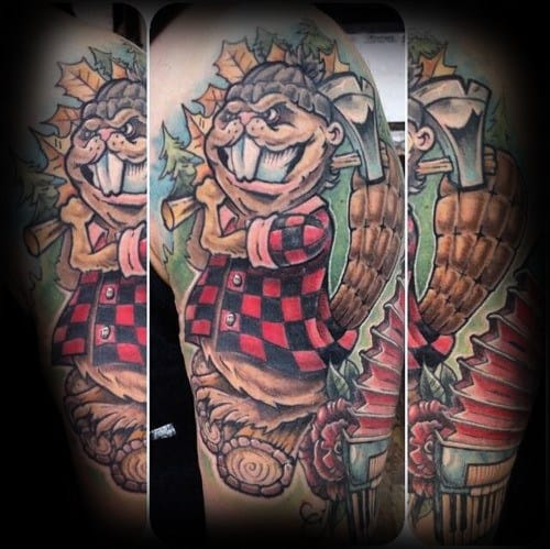Male Cool Beaver Tattoo Ideas