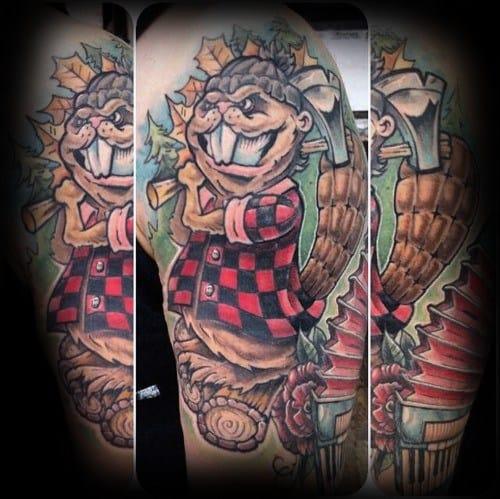 Male Cool Beaver Tattoo Ideas