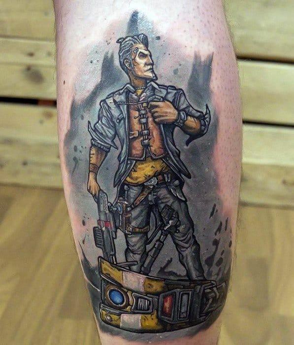 Male Cool Borderlands Tattoo Ideas