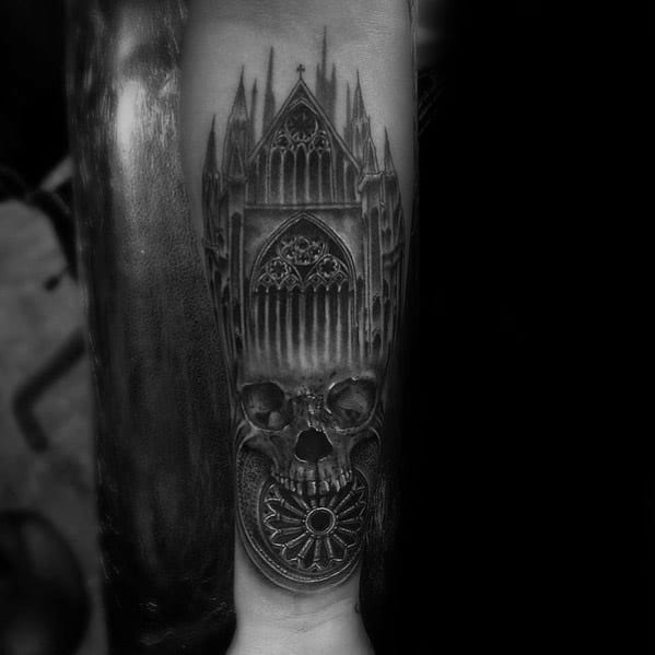 Male Cool Cathedral Tattoo Ideas
