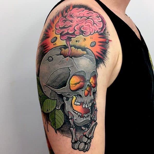 Male Cool Consciousness Tattoo Ideas On Arm