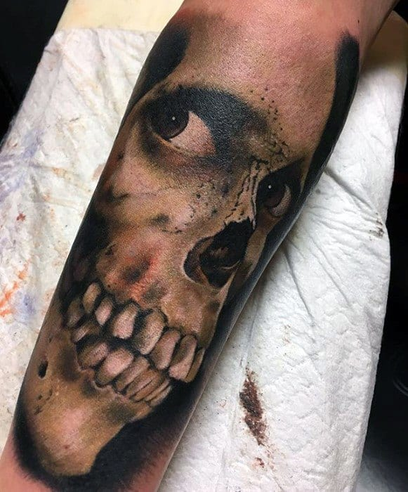 Male Cool Evil Dead Tattoo Ideas