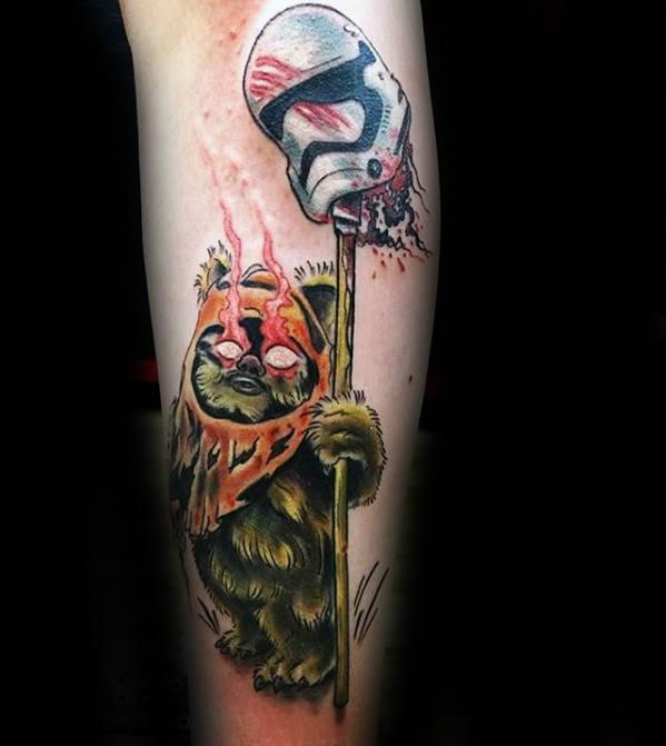 Male Cool Ewok Tattoo Ideas