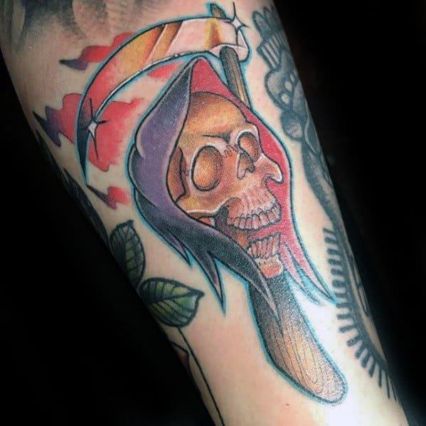 Male Cool Filler Grim Reaper Tattoo Ideas