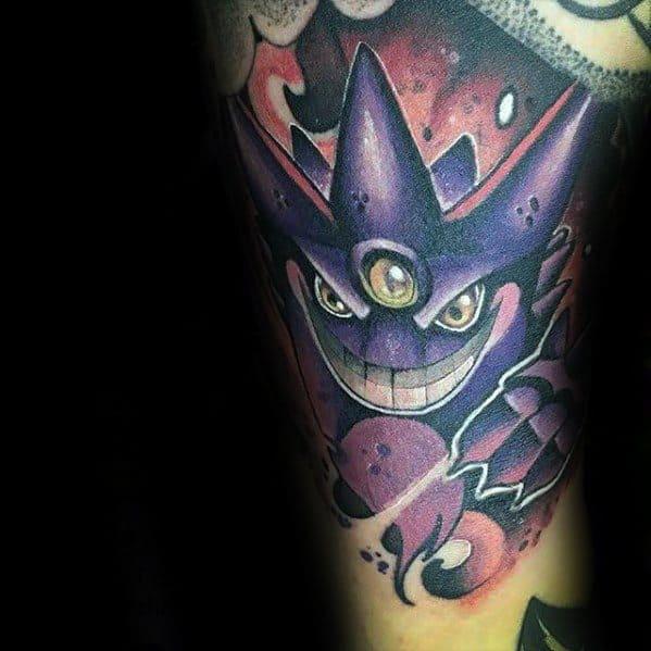 Male Cool Gengar Tattoo Ideas