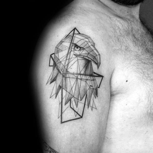 Male Cool Geometric Animal Tattoo Ideas