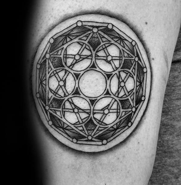 Male Cool Geometric Arm Tattoo Ideas