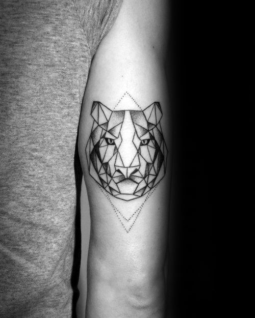 Male Cool Geometric Tiger Tattoo Ideas