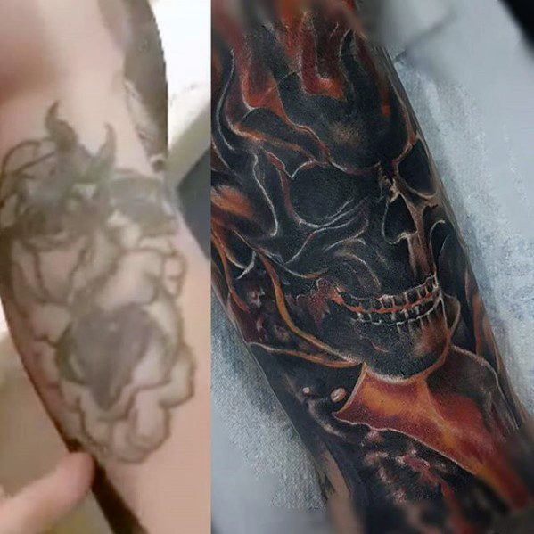 Male Cool Ghost Rider Tattoo Ideas