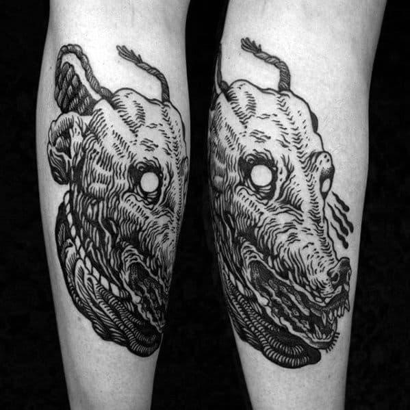 Male Cool Greyhound Tattoo Ideas