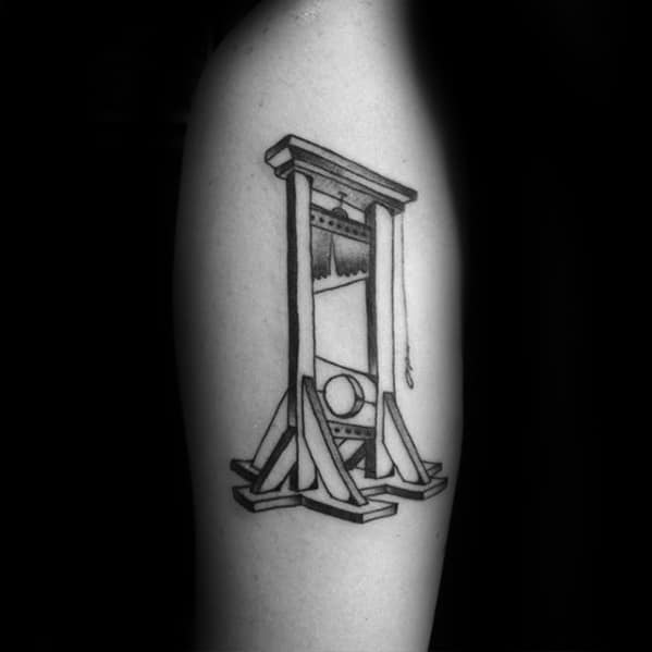 Male Cool Guillotine Tattoo Ideas