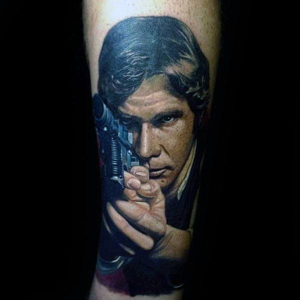 Male Cool Han Solo Tattoo Star Wars Ideas On Forearm