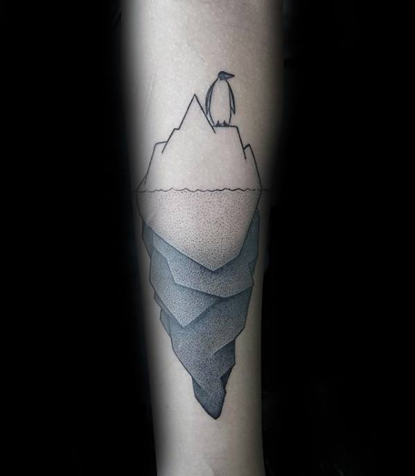 Male Cool Iceberg Tattoo Ideas