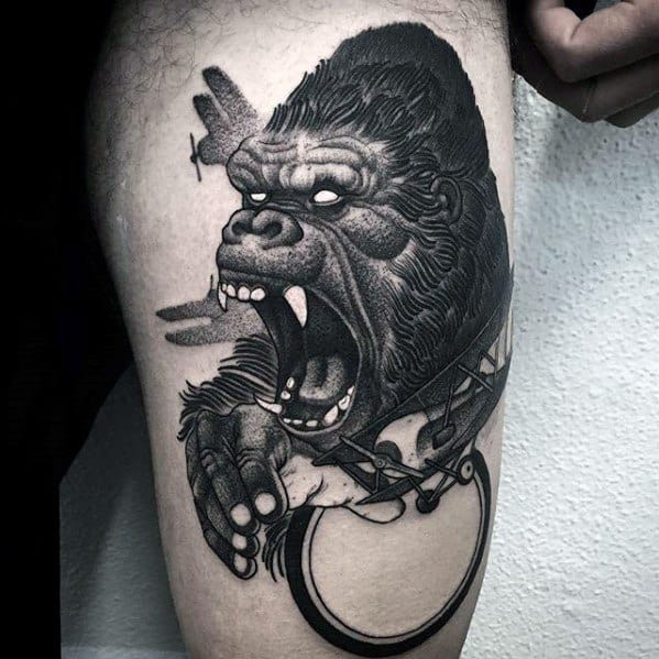 Male Cool King Kong Tattoo Ideas